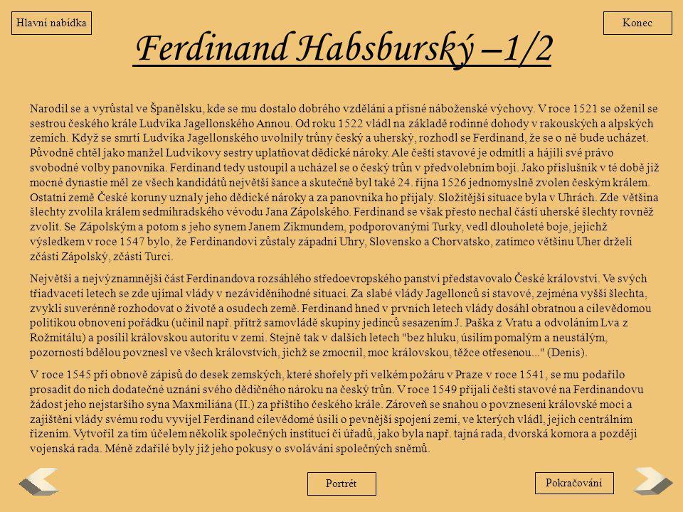 Ferdinand Habsburský –1/2