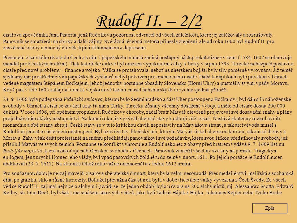 Rudolf II. – 2/2
