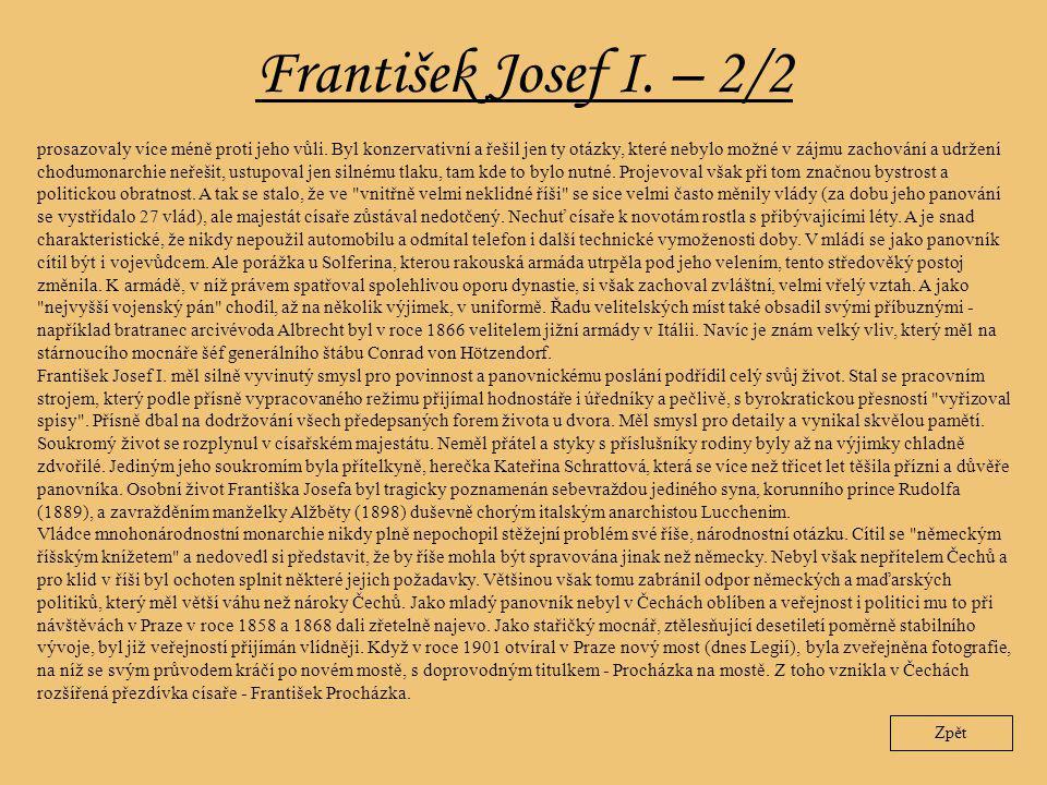 František Josef I. – 2/2