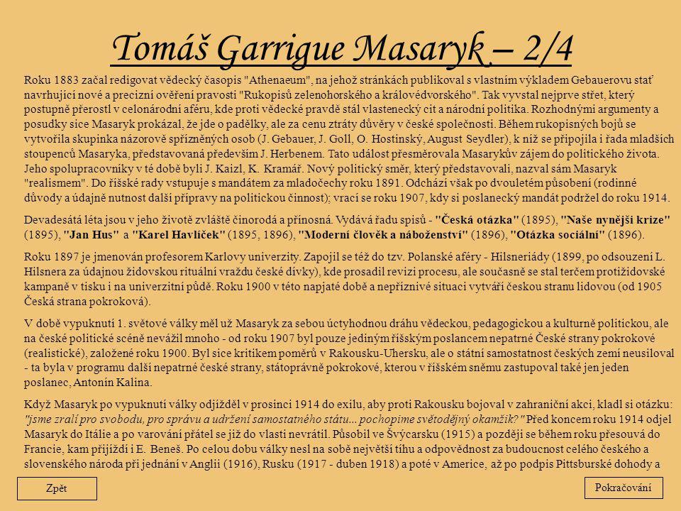 Tomáš Garrigue Masaryk – 2/4