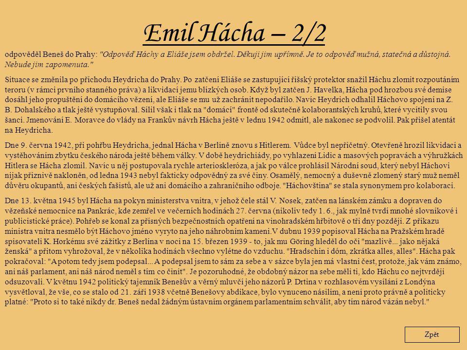 Emil Hácha – 2/2