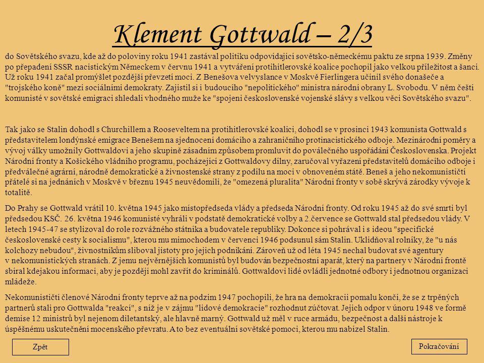 Klement Gottwald – 2/3