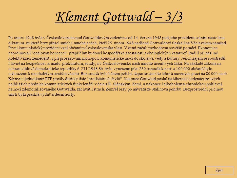 Klement Gottwald – 3/3