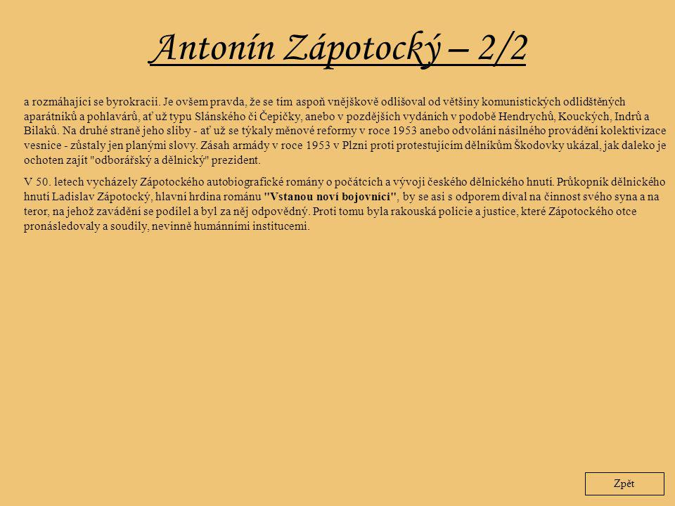Antonín Zápotocký – 2/2