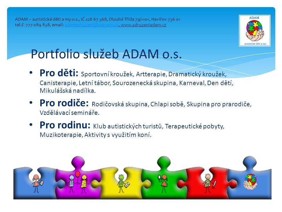 Portfolio služeb ADAM o.s.