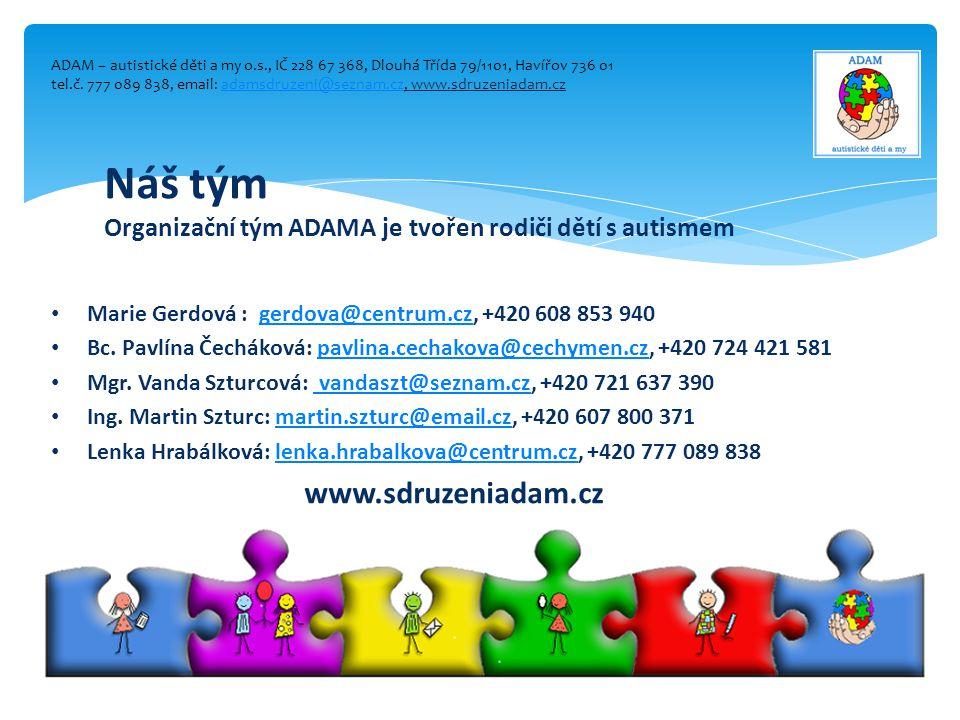 Náš tým www.sdruzeniadam.cz