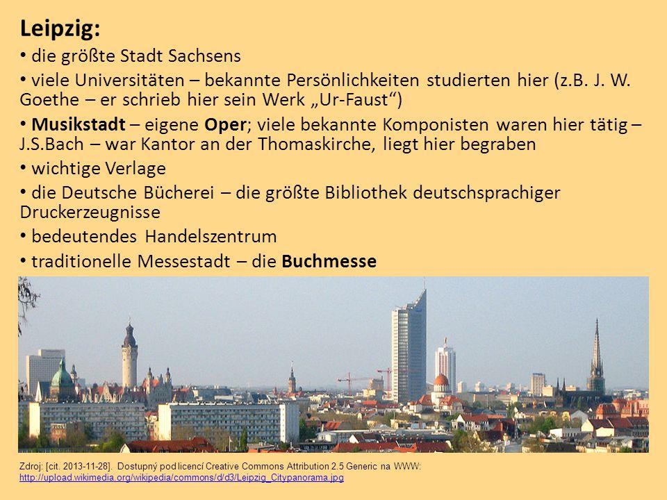 Leipzig: die größte Stadt Sachsens