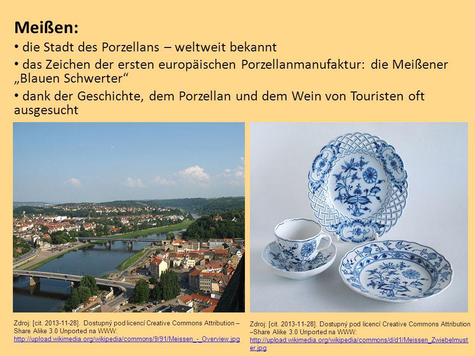 Meißen: die Stadt des Porzellans – weltweit bekannt