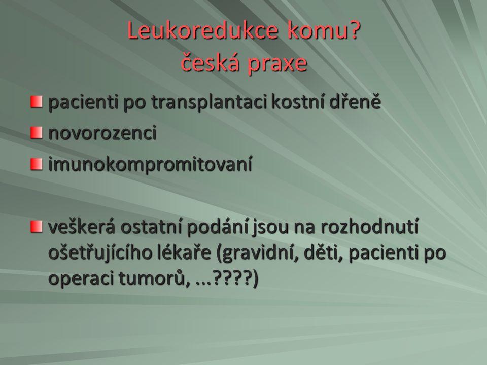 Leukoredukce komu česká praxe