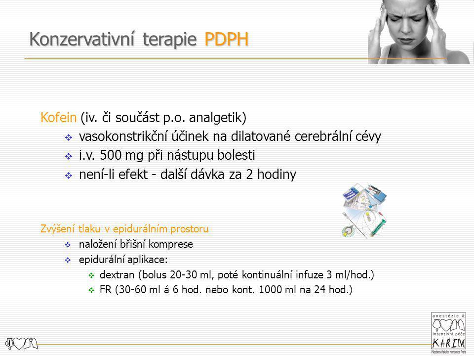 Konzervativní terapie PDPH