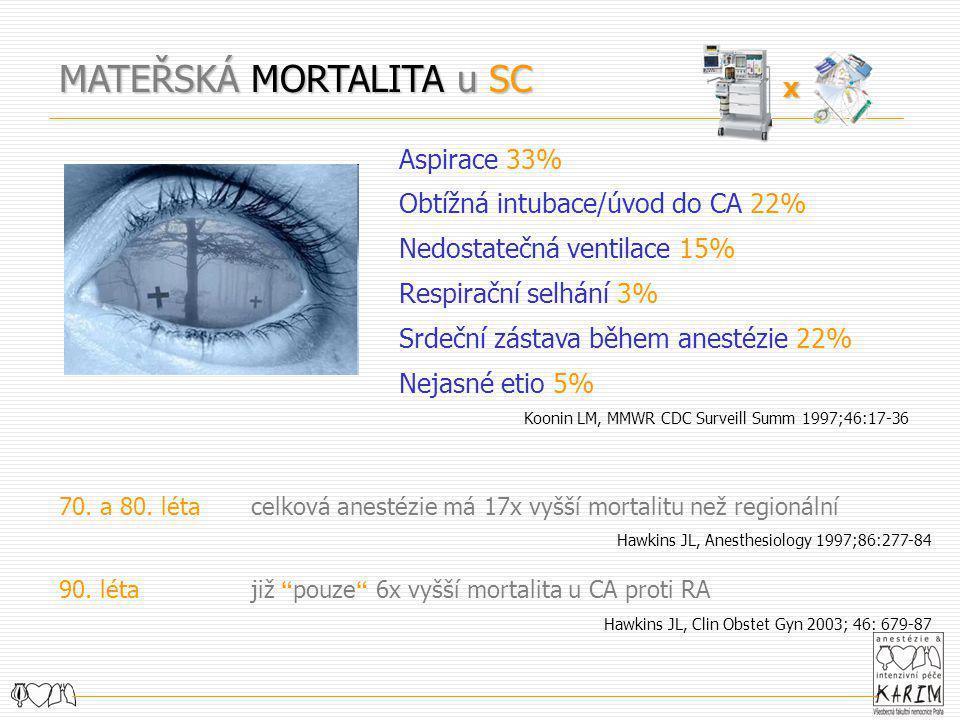 MATEŘSKÁ MORTALITA u SC