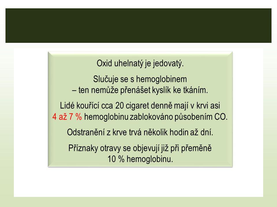 Oxid uhelnatý je jedovatý.