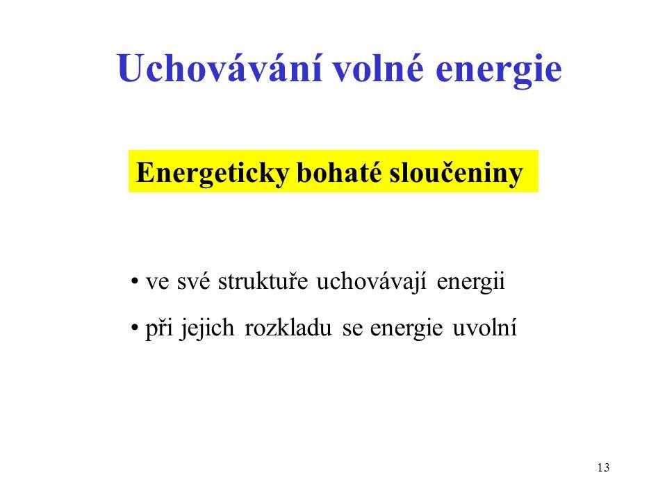 Uchovávání volné energie