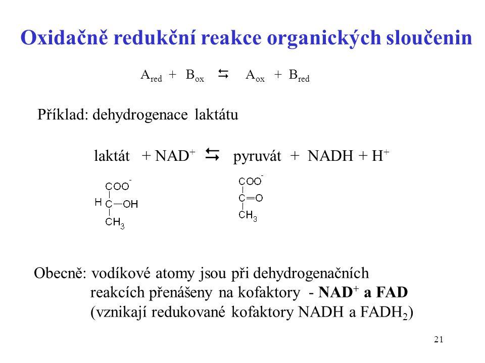 Oxidačně redukční reakce organických sloučenin
