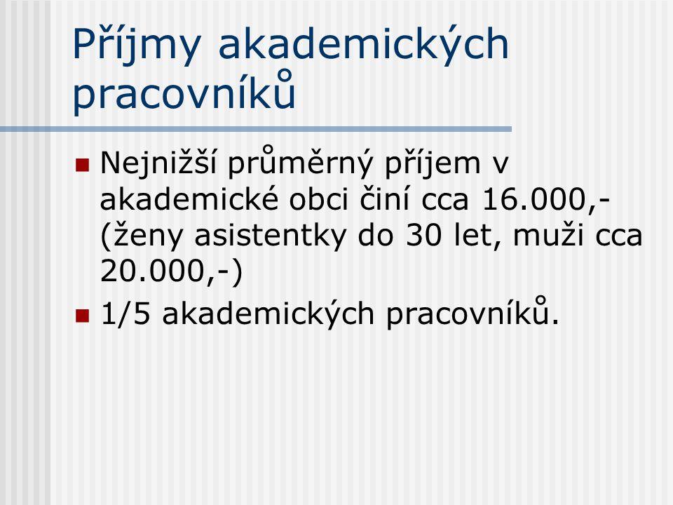 Příjmy akademických pracovníků