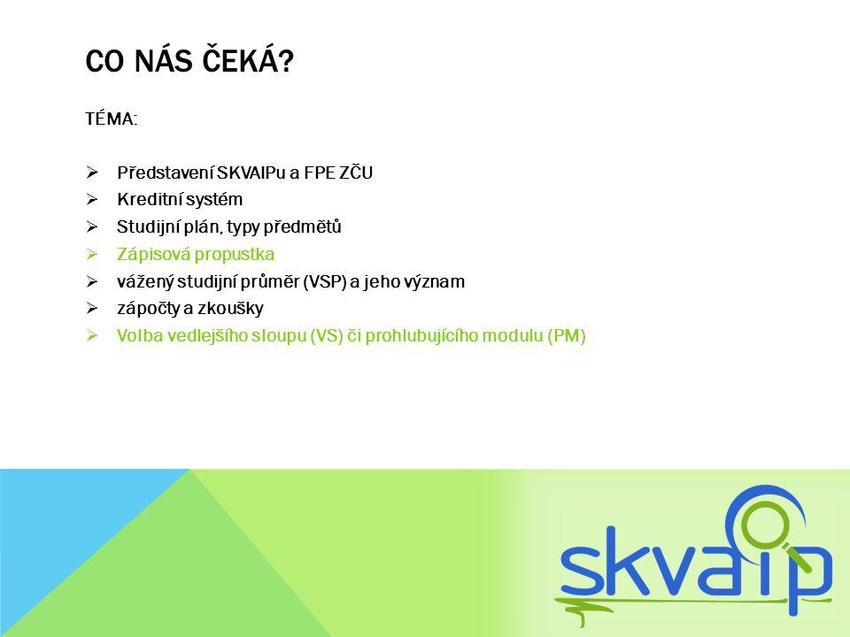 Co nás čeká TÉMA: Představení SKVAIPu a FPE ZČU Kreditní systém