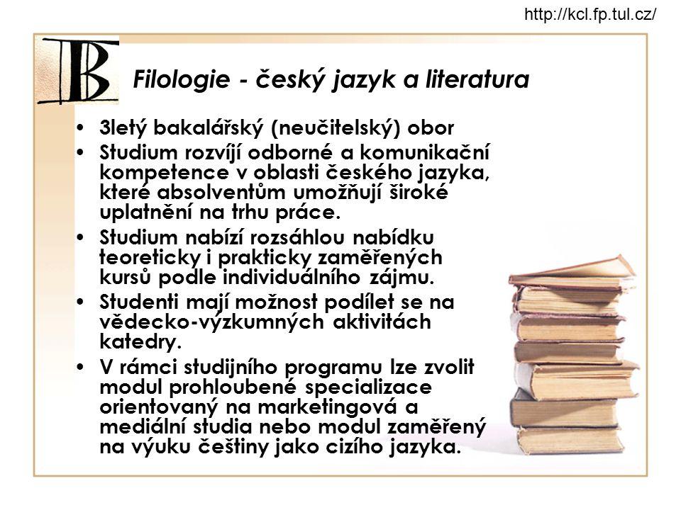 Filologie - český jazyk a literatura