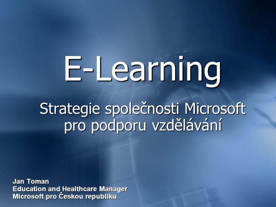 E-Learning Strategie společnosti Microsoft pro podporu vzdělávání