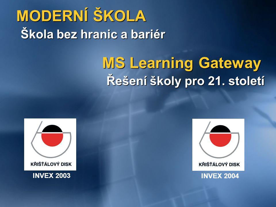 MODERNÍ ŠKOLA MS Learning Gateway Škola bez hranic a bariér