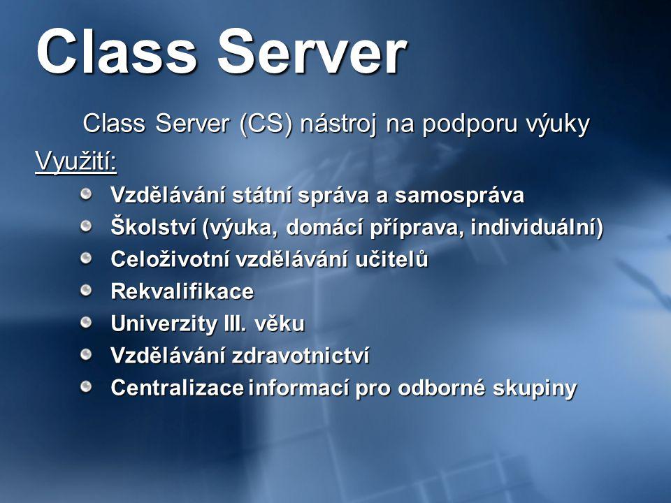 Class Server (CS) nástroj na podporu výuky