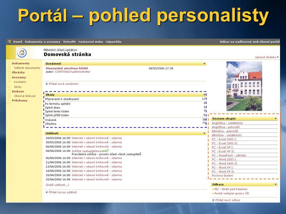 Portál – pohled personalisty