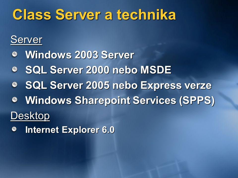Class Server a technika