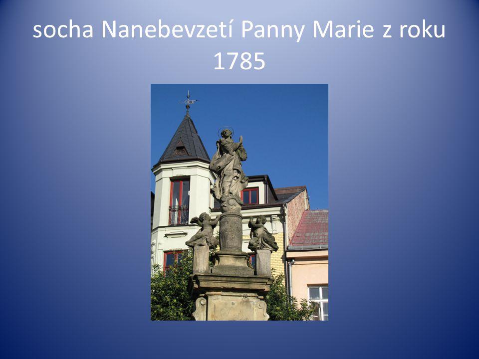 socha Nanebevzetí Panny Marie z roku 1785