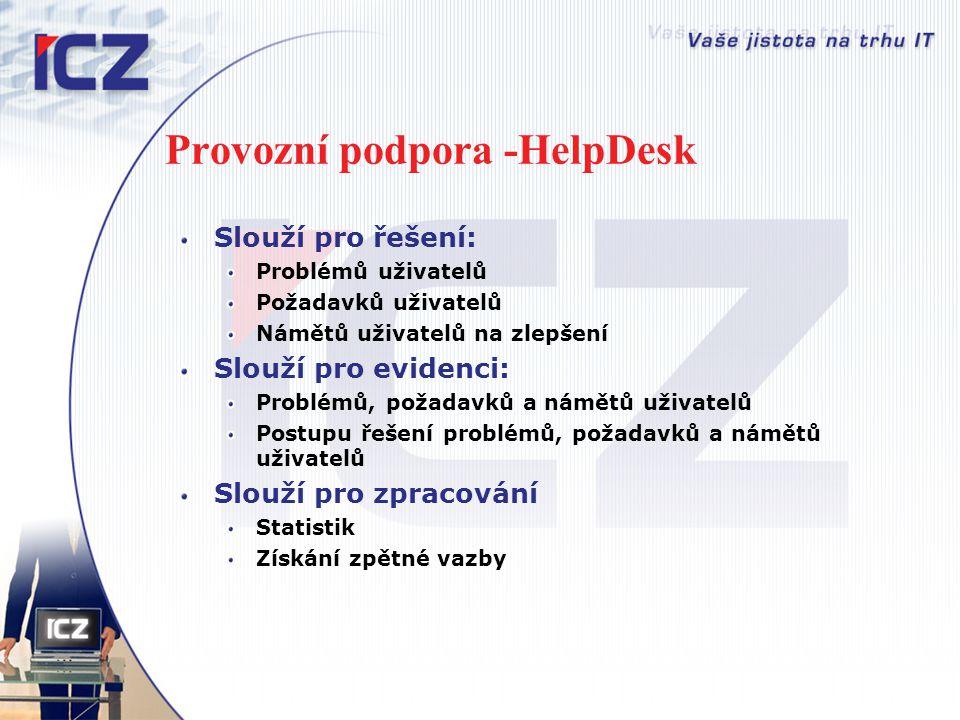 Provozní podpora -HelpDesk
