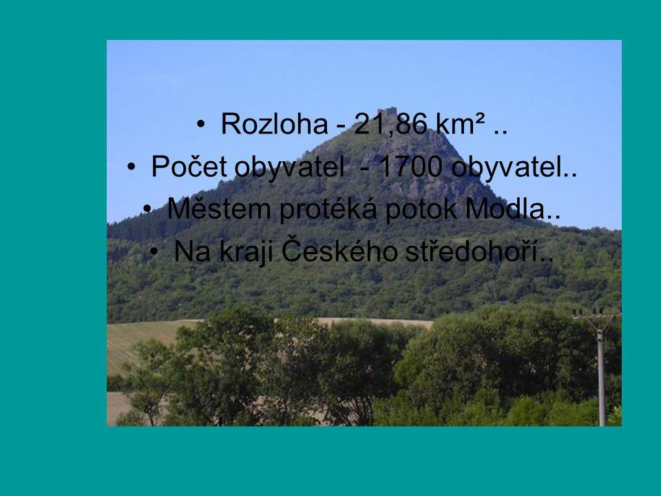 Počet obyvatel - 1700 obyvatel.. Městem protéká potok Modla..