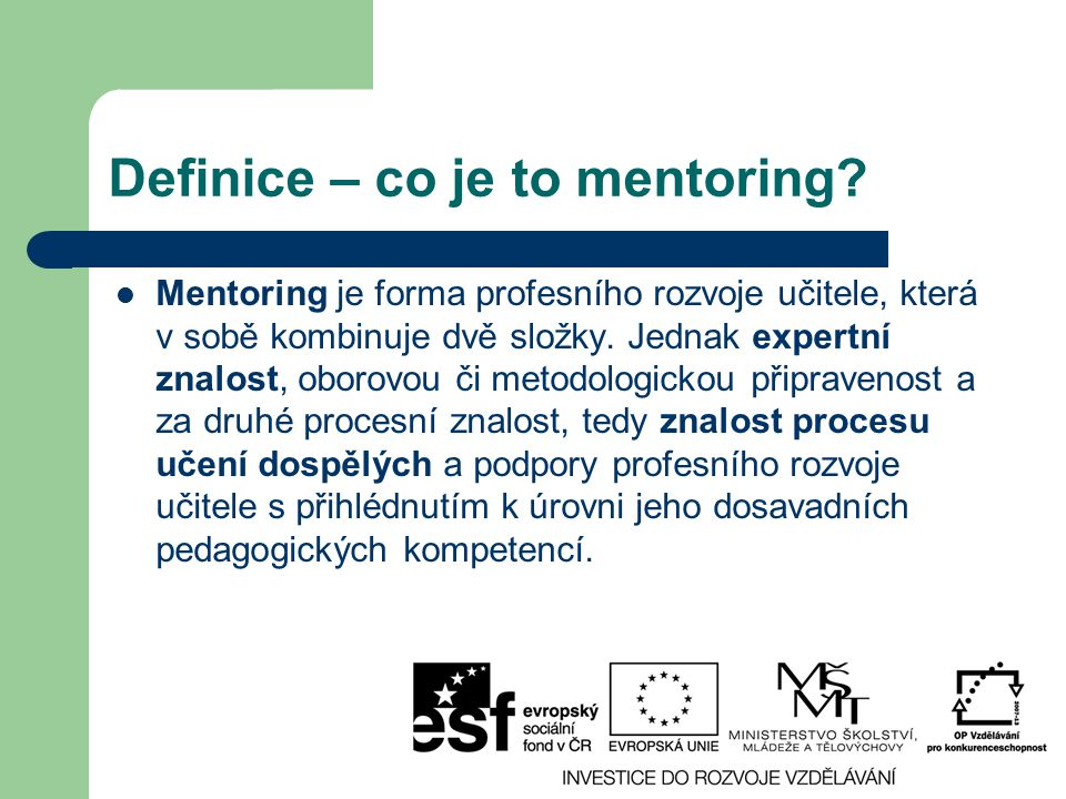 Definice – co je to mentoring