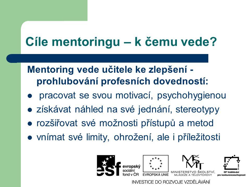 Cíle mentoringu – k čemu vede