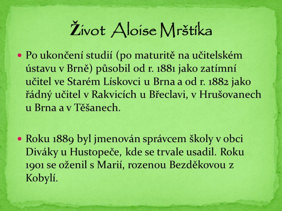Život Aloise Mrštíka
