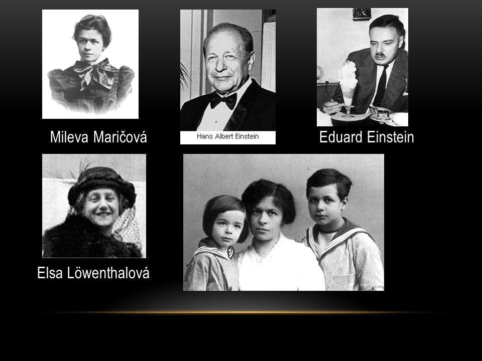 Mileva Maričová Eduard Einstein