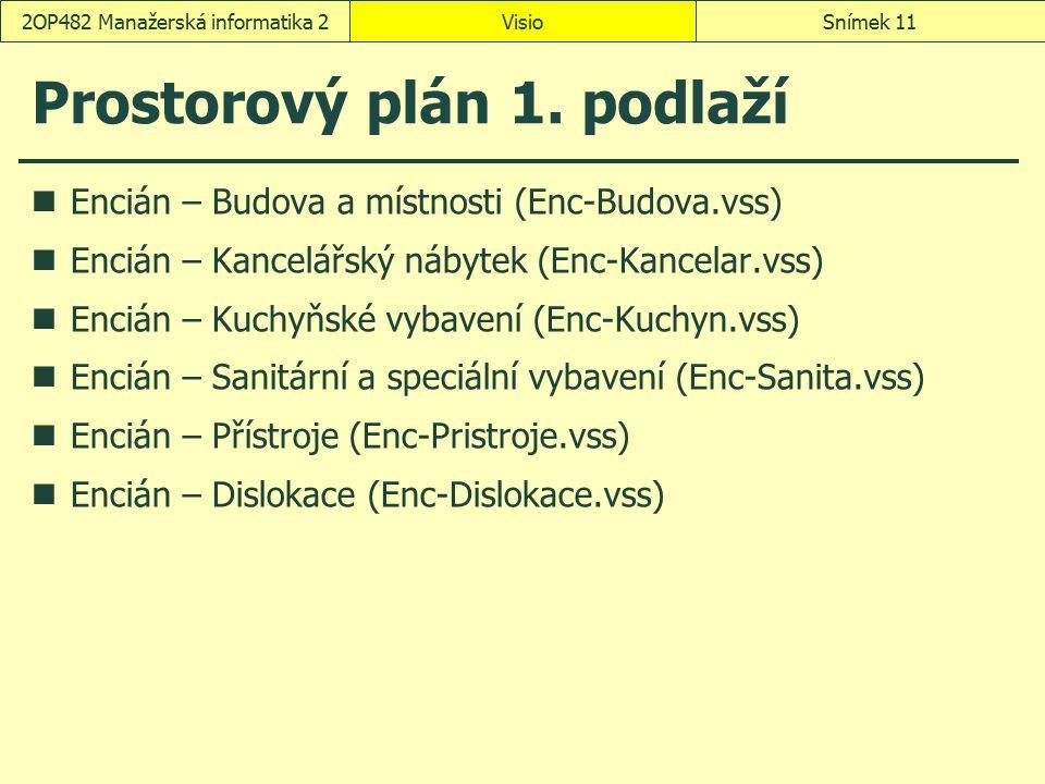 Prostorový plán 1. podlaží