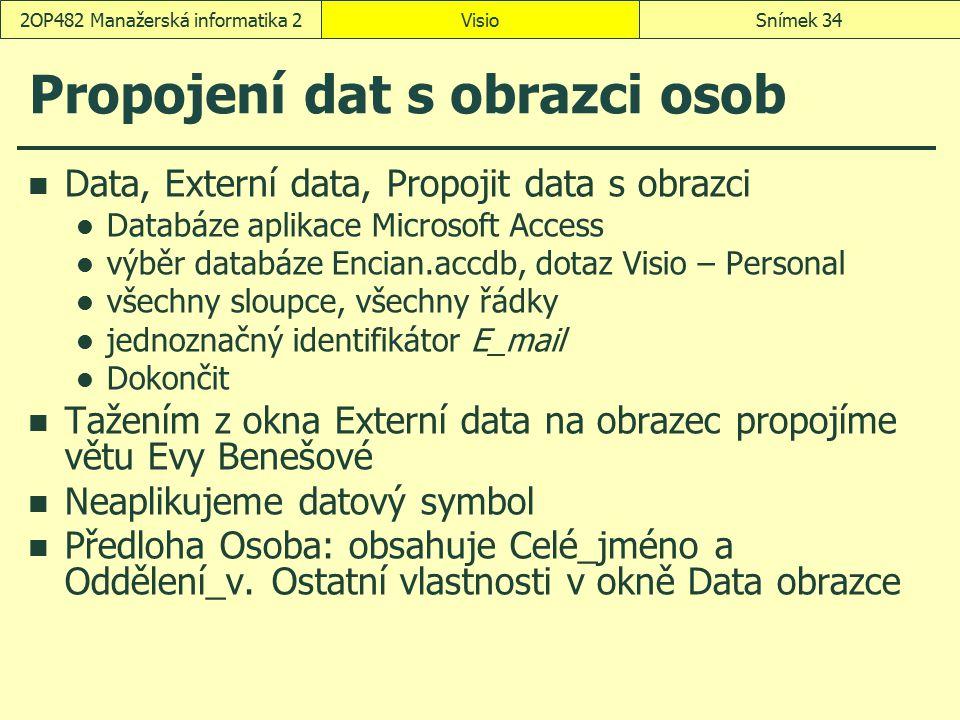 Propojení dat s obrazci osob