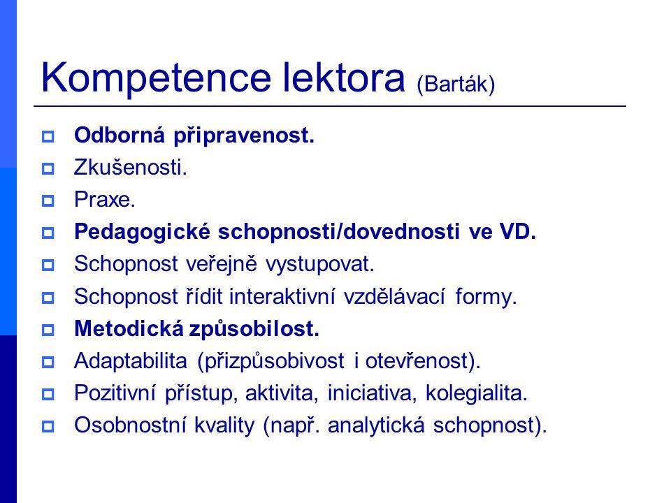 Kompetence lektora (Barták)