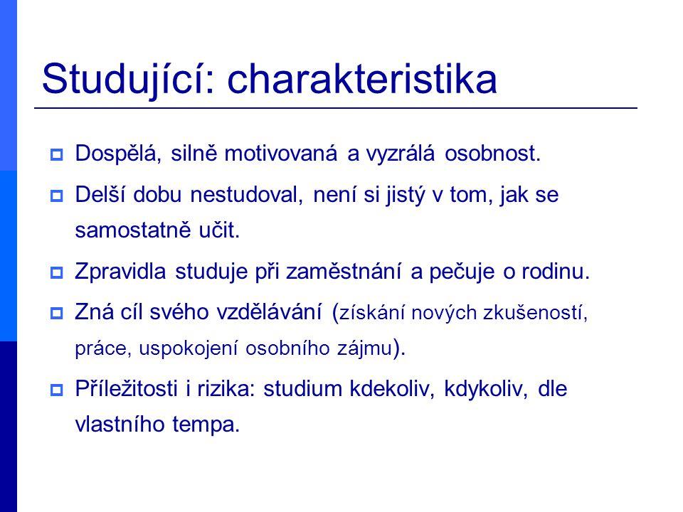 Studující: charakteristika