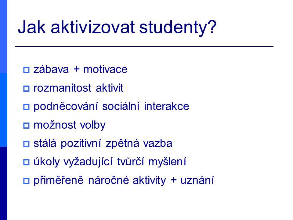 Jak aktivizovat studenty
