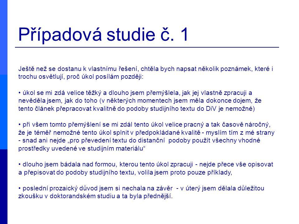 Případová studie č. 1
