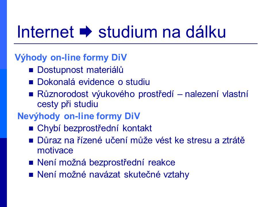 Internet  studium na dálku