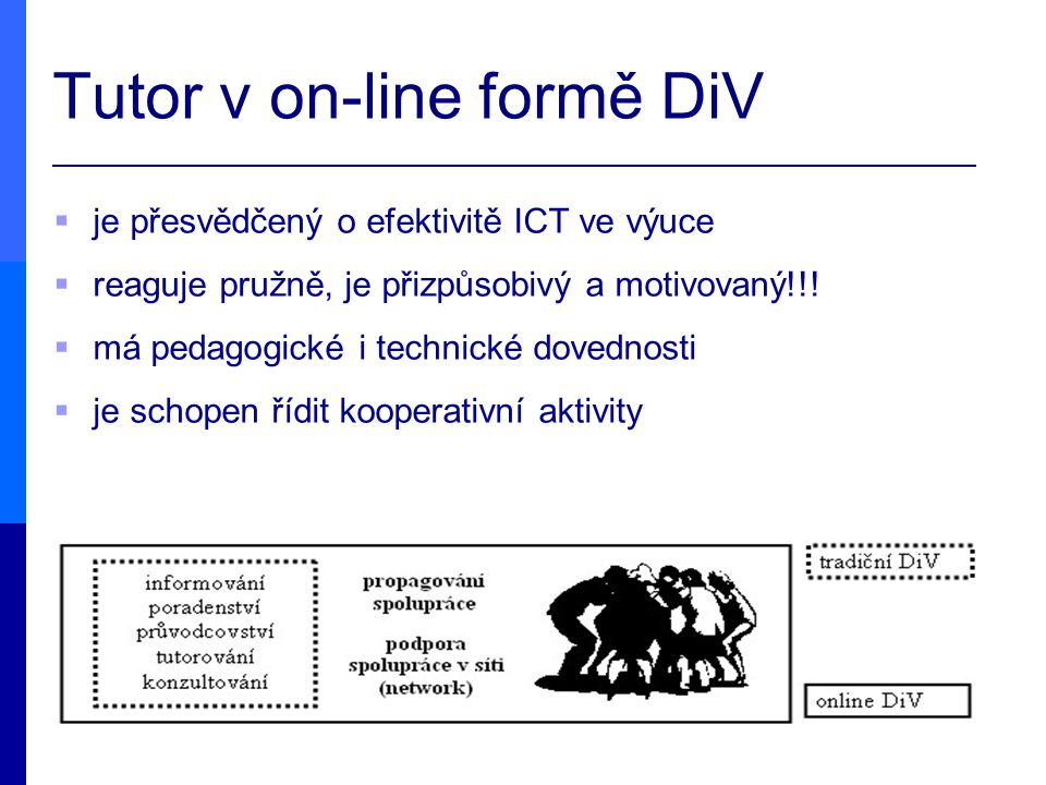 Tutor v on-line formě DiV