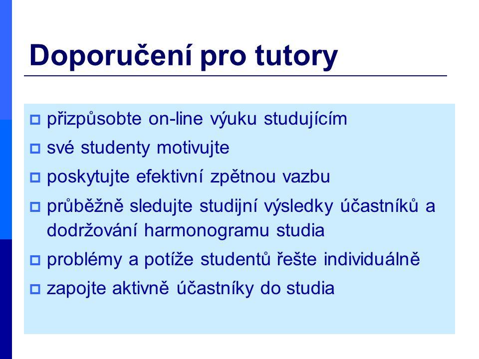 Doporučení pro tutory přizpůsobte on-line výuku studujícím