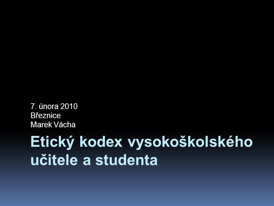 Etický kodex vysokoškolského učitele a studenta