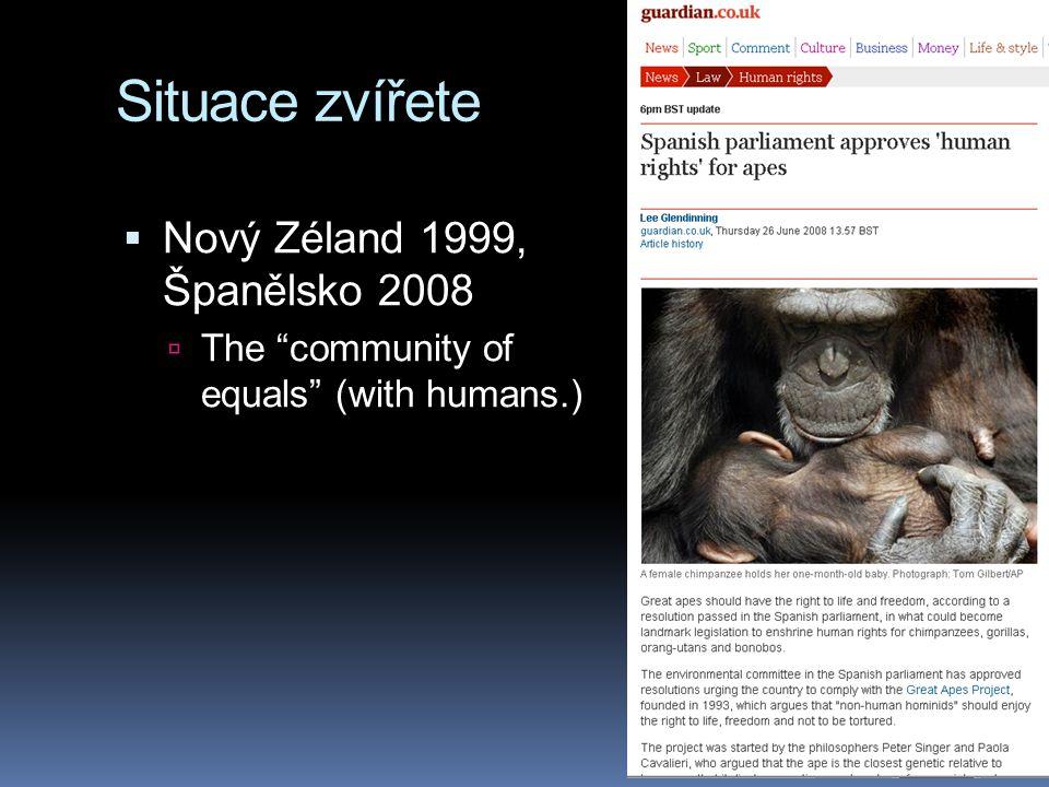 Situace zvířete Nový Zéland 1999, Španělsko 2008