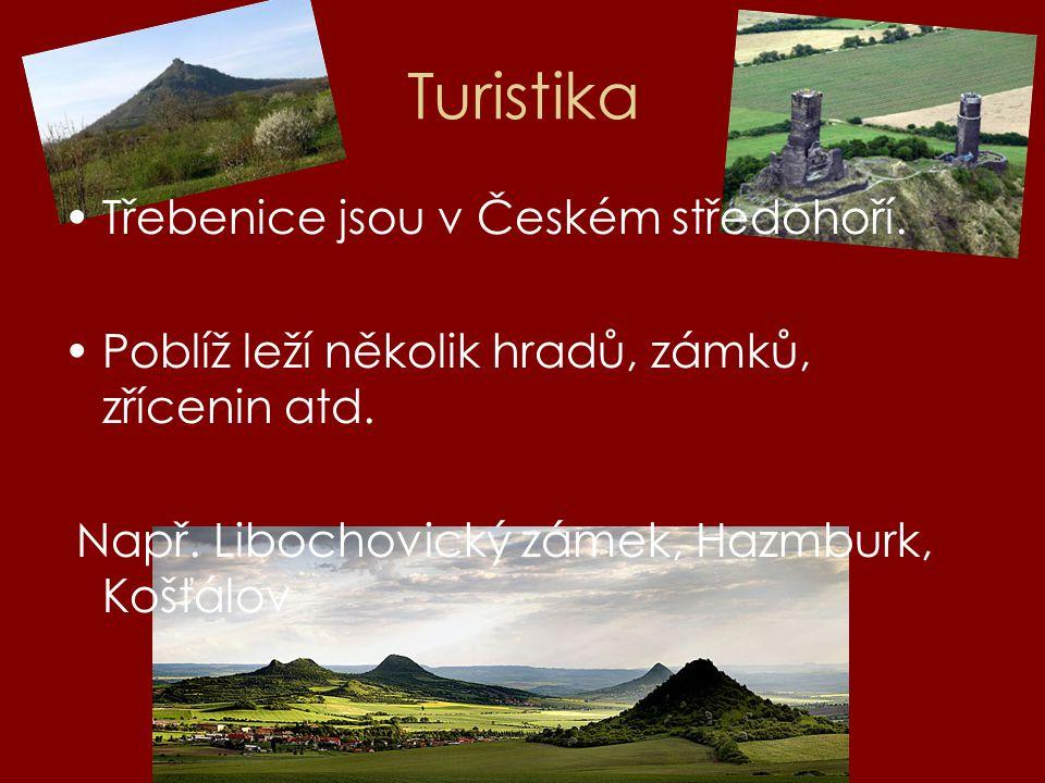 Turistika Třebenice jsou v Českém středohoří.