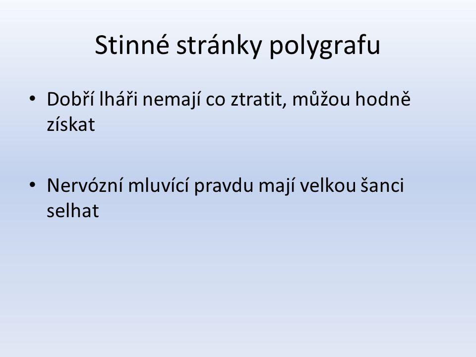 Stinné stránky polygrafu