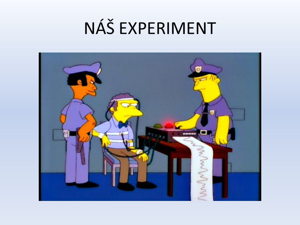 NÁŠ EXPERIMENT