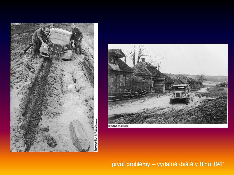 první problémy – vydatné deště v říjnu 1941