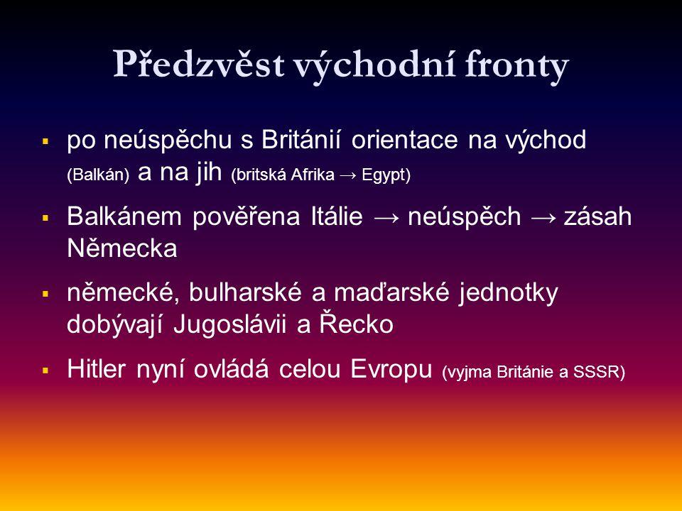 Předzvěst východní fronty