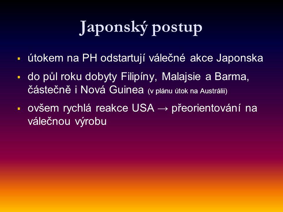 Japonský postup útokem na PH odstartují válečné akce Japonska